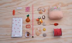 (Kitty Came Home) Tags: orange handmade sewing south peach australia vintagefabric apricot vintagebuttons handmadeinaustralia kittycamehome flatlay