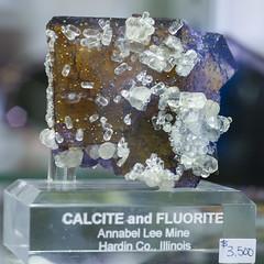 Calcite Fluorite, Illinois (cobalt123) Tags: arizona canon tucson firstphotos age11 2016 anavey tucsonrockandgemshow xti canonrebelxti anaveybolender