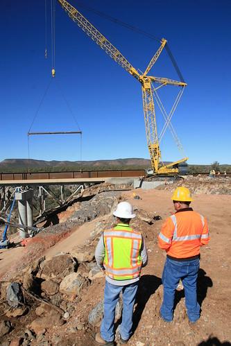 Hell Canyon Bridge - Girder Installation