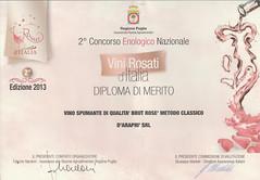 d'Arapr e Vini Rosati d'Italia 2013 (Sparkling Wines of Puglia) Tags: ros brut spumante brutros darapr vinirosati