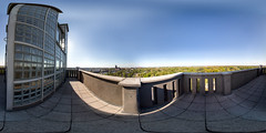 the sunny side of Magdeburg (360 x 180) (diwan) Tags: city panorama architecture canon germany geotagged deutschland eos view place stitch outdoor roundabout fisheye architect magdeburg stadt panoramix 360 observationtower 2015 fotogruppe ptgui aussichtsturm equirectangular saxonyanhalt sachsenanhalt spiegelreflexkamera rotehorn albinmller canoneos650d spivpano walimexprofisheye835 fotogruppemagdeburg albinmllerturm geo:lon=11640837 geo:lat=52117737