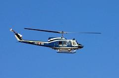 Italian Police Helicopter (nothinginside) Tags: blue sky italy italian italia blu police aeroporto helicopter cielo cop copter policia abruzzo italiana pescara polizia blus 2016 elicottero liberi