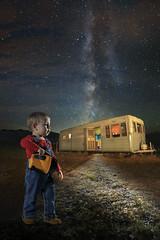 The Explorer (ajschroetlin) Tags: light boy portrait sky color composite stars fun colorado moments son flashlight wyoming trailer milkyway ajschroetlin