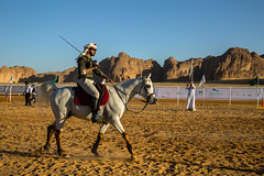 Horse sword games (Dlirante bestiole [la posie des goupils]) Tags: horse north middleeast fair saber alula horserider arabie internationalfairofalula