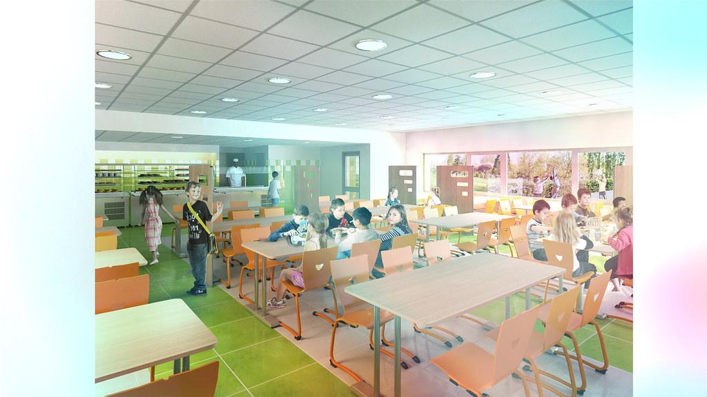 Le nouveau groupe scolaire // Restauration scolaire (le self des élémentaires)