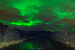 Aurora on the River Spey (nancychambersphotography) Tags: colour green night river lights scotland boat stunning northern garten spey cairngorms