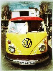 Campervan (tubblesnap) Tags: cameraphone classic yellow mobile vw volkswagen photography cellphone motorola processing van filters camper app campervan motog snapseed