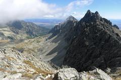Widok z Małej Wysokiej na Brodavicę i Górne piętro Staroleśnej Doliny