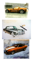 Contact-cars-011 (C&C52) Tags: illustrations triptyque dessins voitures