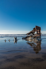 2016-01-10 - Peter Iredale Shipwreck-35 (www.bazpics.com) Tags: ocean sea usa beach water oregon america skeleton sand ship pacific or wave peter shipwreck frame hull wreck iredale
