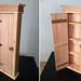 tall bead board cabinet