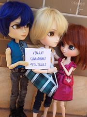 Bem vinda Florzinha! (Usa_chan) Tags: friends toy lucifer doll lily group raphael volta dollpullip groovedolltaeyang