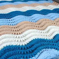 Loved doing this wave pattern... (Strawberry Latte) Tags: handmade crochet etsy crocheted crochetblanket handmadeblanket crochetbaby handmadebaby crochetlove uploaded:by=flickstagram crochetersofinstagram instagram:photo=1226993200280207168391400350