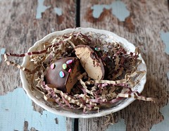 Maple Cream Easter Eggs (femmefraiche) Tags: food easter recipe dessert diy maple yum coconut chocolate delicious sprinkles butter eggs chocolatedipped tutorial pecans eastereggs eastergrass easterbasket foodblog maplecream chocolatedip foodblogger mapleextract buttercreameggs