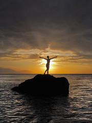 _4050263b (Concert Photography and more) Tags: sunset sea orange white sexy beach clouds puerto model maya dusk philippines posing april mermaid galera puertogalera mindoro settingsun whitebeach 2016 silouhettes