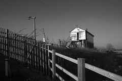 Signal Box (Apionid) Tags: film rollei nikon railway signalbox lichfield fm2n trentvalley day91366 retro400s 366the2016edition 3662016 31mar16