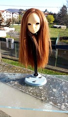 Wig done ! (Ektou) Tags: brown alpaca long hand made wig bjd mnf alpaga