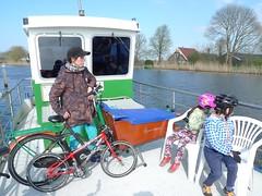 Family Cycling - Tulip Trip 2016-4-10 (henry in a'dam) Tags: family holland netherlands dutch amsterdam bike kids children cycling tulips kinderen nes bloemen fietstocht fietsen amstel bakfiets uithoorn bloemenplukken