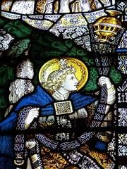 Retford - St Swithun's - Kempe Glass (Glass Angel) Tags: tower angel stainedglass warmemorial nottinghamshire retford kempe stswithun