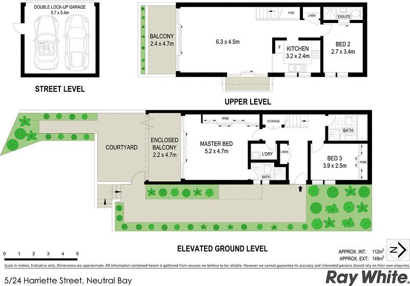 Property Floorplan Of 5 24 Harriette Street Neutral Bay