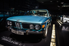 BMW 3.0 CSi (MSC_Photography) Tags: blue 30 museum munich mnchen 1971 nikon slim angle bokeh fine wide headlights exhibition sp ii frame di bmw if af tamron coupe f28 xr ld coup csi ausstellung e9 hoya bague 67mm aspherical scheinwerfer cirpl 1750mm d5100