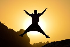 Abra kadabra (Hctor Creer Crear Crecer) Tags: sunset sky sun mountain sol yellow mantis atardecer jump nikon magic cielo salto silueta 60mm nikkor montaa siluetas torcal antequera abrakadabra