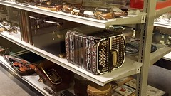 Some old accordions - Grandpa had one of these and I remember him playing while we little ones danced to his music