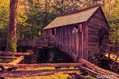 Cave's Cove (alrob_photos) Tags: nature water wheel cabin rustic smokymountains splittone