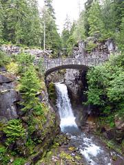 Christine Falls, Mount Rainier (Ketrilla) Tags: bridge waterfall falls mountrainier rainier christinefalls