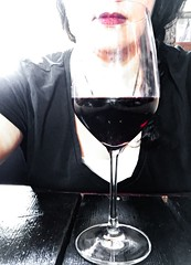 Tipsy Faith (BenitaMarquez) Tags: california red woman usa sunlight black glass mouth photography wine drink lips winery alcohol grapes lipstick livermore vino cabernet iphone selfie rubino vitner rubyhills
