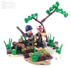 Bird Hunters (burningblocks) Tags: landscape crazy woods arms lego rifle minifigs custom vignette diorama hunt moc