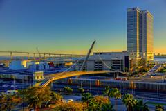 Sunset over San Diego (ap0013) Tags: california city bridge sunset urban bay san downtown sandiego district hilton diego pedestrian hdr gaslight sandiegoca harbordrive sandiegocalifornia