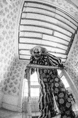 Clowning Around (Michael P Bartlett) Tags: bw mono scary evil clowns evilclowns