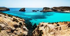 The Blue Lagoon-Comino Island,Malta (Bashir Towers) Tags: travel blue seascape water island mediterranean malta lagoon bluelagoon clearwater comino nikond610