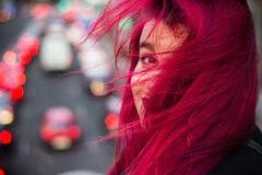 Elena (Jantbrown) Tags: madrid she red portrait espaa beautiful beauty hair rouge mujer chica retrato ella windy ciudad viento aire tinte coches pelirroja pelirrojo pelo espaola rjo pelorrosen