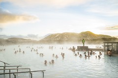Blue Lagoon Sunset (Scrooge0) Tags: travel pool swim island iceland sony reykjavik hotspring geothermal bluelagoon hotsprings travelphotography a7s sonya7s
