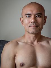 IMG_1384 (Zefrog) Tags: uk portrait man london pecs asian topless johann zefrog