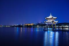 mondo azzurro (kangxi504) Tags: china lake night asia pentax westlake hangzhou  ricoh  zhejiang