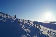 Against the light (christianbartlett) Tags: blue sun snow sunshine silhouette outdoors scotland highlands scenery view outdoor hills vista snowscape schottland hillwalking scrambling scottishhighlands glenshiel thesouthglenshielridge