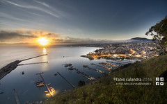 the crazy Joseph sunrise | Fabio Calandra 2016| (fabiocalandra) Tags: ocean city morning travel blue trees light sea summer sky italy sun seascape mountains green castle love beach water beautiful beauty del clouds sunrise landscape top sicily editor popular sicilia golfo castellammare