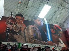 Star Wars sign in Meijers (stacyinil) Tags: starwars gaw