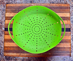 Steamer 114/366 (Jo-Apple pie Day!!!) Tags: green kitchen design counter patterns board rubber symmetry holes cutting lime gadget steamer handles day114366 symmetrypatterns 366the2016edition 3662016 23apr16