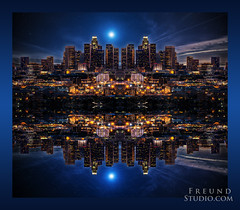 LA skyline mirror (Freund Studio) Tags: ~danfreund2016allrightsreserved ~wwwfreundstudiocom ~freundstudio