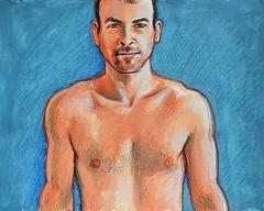 portrait pastel drawing by Franco Coluzzi (talien73) Tags: portrait man art face self drawing pastel