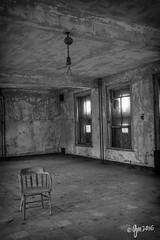 Solitary (gmckel50) Tags: windows urban building abandoned hospital chair interior room urbanexploration urbex abandonedhospital