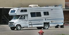 '70s Dodge RV (Eyellgeteven) Tags: white classic vintage vehicle dodge chrysler mopar van rv 1970s camper motorhome madeinusa americanmade 1ton recreationalvehicle eyellgeteven