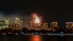 Fireworks in Boston celebrating the 2016 New Year aken from Cambridge (abdomaster) Tags: seascape love boston canon fire long exposure seascapes fireworks massachusetts 6d 2016