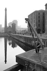 0 (Towner Images) Tags: crane hoist dock wharf quay albertdock canningdock liverpool merseyside rivermersey bw blackandwhite monotone towner townerimages pumphouse water reflection mmm merseysidemaritimemuseum mono monochrome greyscale monochromatic