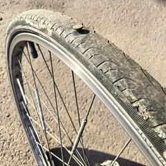 """Iba a titularla """"mi ltimo #pinchazo del ao"""" pero an me quedan 5Km para llegar a casa. Ganicas de que se acabe este puto ao #bike #bicicletas #enjoybike #ruedas #wheel #prick #neumatico #gafe #malasuerte (Carolina_BCN) Tags: bike wheel prick bicicletas ruedas malasuerte neumatico pinchazo gafe enjoybike"""