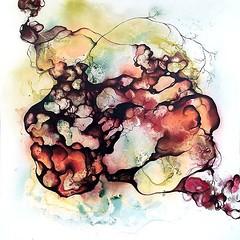 """Abstrakt maleri - Title """"Spinning"""". Size 140x140 cm. (Rikke Darling) Tags: modern painting abstractart colorfull kunst fineart moderne abstrakt maleri colourfull malerier galleri abstrakte salg bioart kb kunstgalleri farverigt"""